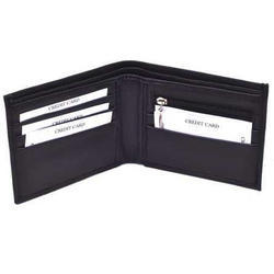 Black Pu Leather Mens Leather Wallet, Packaging Type: Box