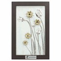 White Aluminium Lotus Wall Art, Size: 375x570mm