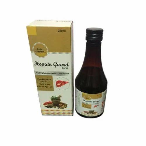 Liquid Hepato Guard Herbal Syrups, Packaging Size: 200ml, Packaging Type: Bottle