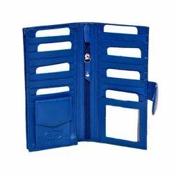 Blue Jagdish Ladies Leather Wallet