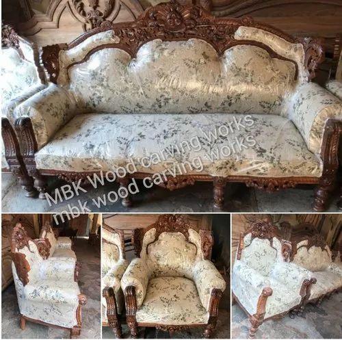 Wooden Teak Wood Sofa Set