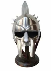 Gladiator Maximums Roman Spiked Helmet Steel Gladiator Adult Wearable Size with Stand
