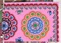Suzani Printed Designer Embroidery Bed Sheets