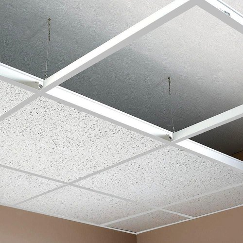 White Galvanised Grid False Ceiling, Thickness: 10-12 mm