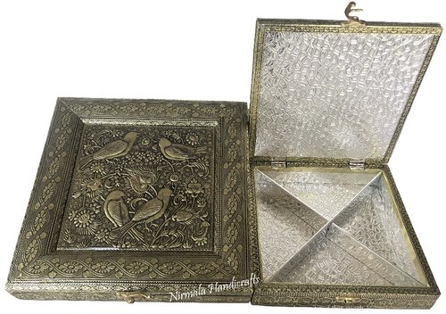 Antique Dry Fruit Box Box Bird Design Gift Box