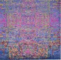 Blue Pink Affordable Handmade Best Quality Saree Silk Rugs