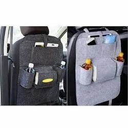 non branded Rexine, Lether Car Back Seat Organizer
