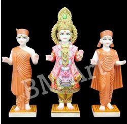 Handmade Marble Swaminarayan Statue