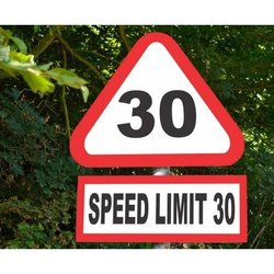 Speed Limit Road Safety Sign