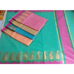 Party Wear Fancy Pure Cotton Saree, 5.5 m (separate blouse piece), Packaging Type: Plastic Bag