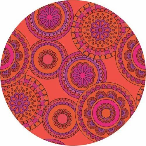 Red Goldcoast Round Table Mat With, Round Table Mats