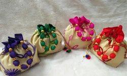 Beautiful Designer Raw Silk Potli