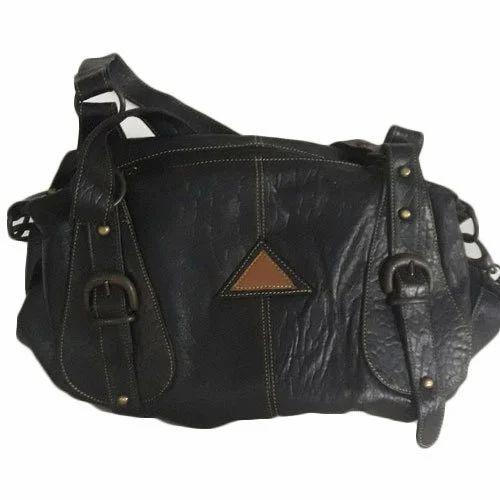 0d9f49dff1dc9f Plain Shoulder Handbag Ladies Leather Bag, Rs 1200 /piece | ID ...