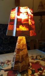 Trendy Wooden Table Lamp