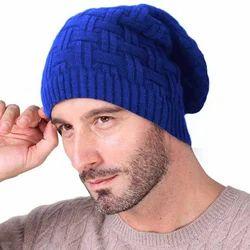 Blue Woolen Beanie Cap