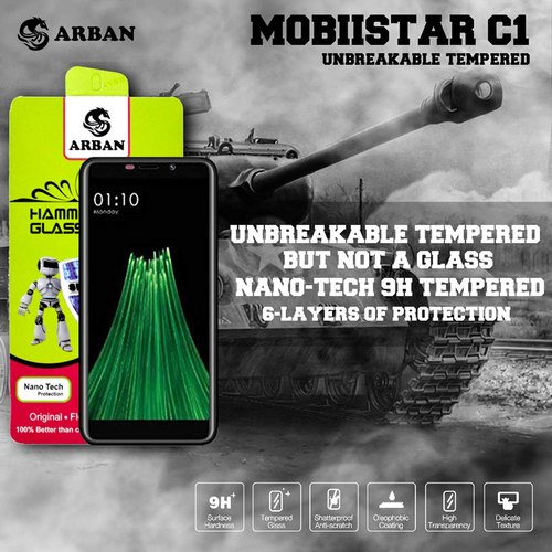 Arban Mobiistar C1 Unbreakable Tempered Glass, Model Number: A-UT1-MOBISTARC1