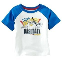 White And Blue Kids T-Shirt