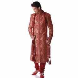 Maroon Wedding Wear Men Embroidered Sherwani