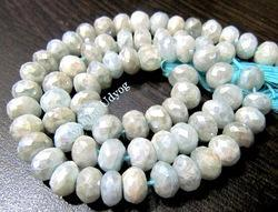 Aquamarine AB Coated Beads