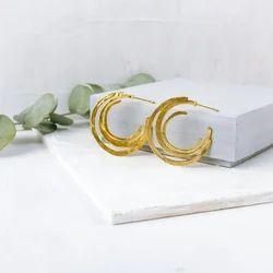 Minimalist Gold Plated Delicate Geometric Stud Earrings