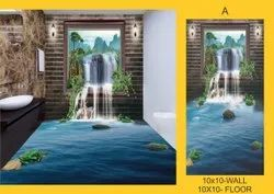 Zelos Ceramic 3D Tiles, Size: 10x10 Feet, Thickness: 10-15 mm
