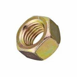 Round Mild Steel Hex Nut, Packaging Type: Box