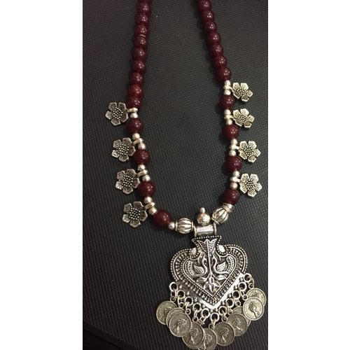 German silver beaded pendant necklace at rs 200 piece german silver beaded pendant necklace aloadofball Images