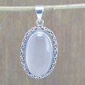 925 STERLING SILVER WHOLESALE JEWELRY ROSE QUARTZ GEMSTONE PENDANT WP-5564