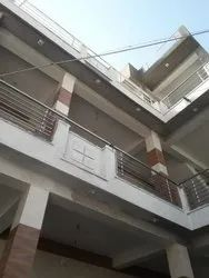 Runing Feet Silver Balcony Railing, For Home, Mounting Type: Floor
