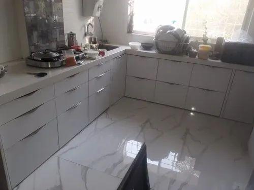 L Shape Wooden Kitchen Decor Warranty 1 5 Years Id 20848343348