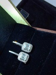 1 Carat Emerald Cut Lab Grown Diamond Pair with Certified By Igi