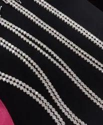 Round Moissanite Double Line Bracelet