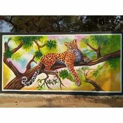 Leopard Wall Painting