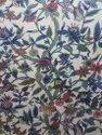 Hibiscus Design Crewel Fabric