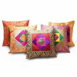 Banarasi Brocade Quilted Cushion Cover 105