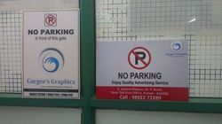No Parking Board Advertising Service