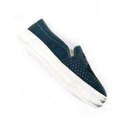 Ladies Blue Canvas Shoes, Size: 4-9