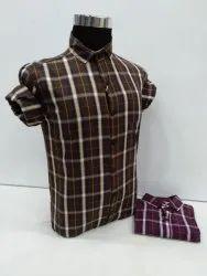 Cotton Full Sleeve Mens Casual Check Shirt