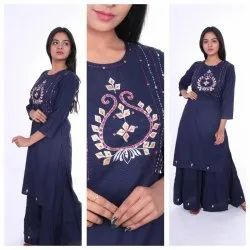 Rayon Kurti With Sharara