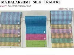 Polyester Cotton Checks, Plaid And Maze Print. 36 Inch