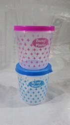 DECENT PLASTICS Blue And Pink Fresh Containers, Capacity: 1 kg