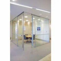 Plain Glass Aluminum Partition, Shape: Rectangular, Thickness: 8 To 10 Mm