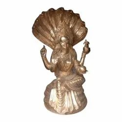 Golden (Gold Plated) Brass Laxmi Statue, for Worship