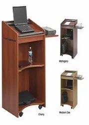 Brown MDF Wooden Podium For Colleges