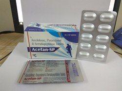 Aceclofenac 100mg Paracetamol 325mg Serratiopeptidase 15mg