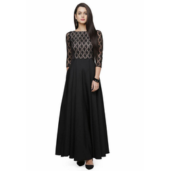 683b8a996 Designer Western Red Long Dress at Rs 649  piece