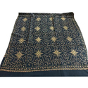 Black Embroidered Shawl