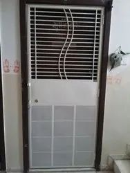 Metal Hinged Ms Safety Doors, For Residential