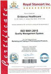 Eridanus Healthcare Certification