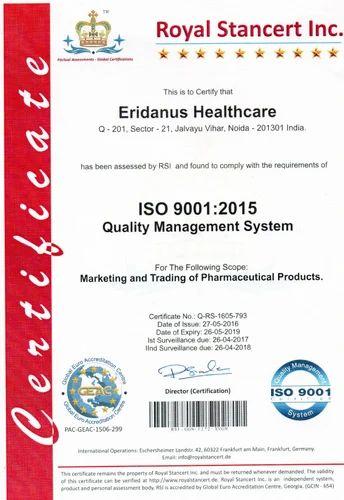 Eridanus Healthcare Certification in Bala Ram Nagar, Bathinda ...